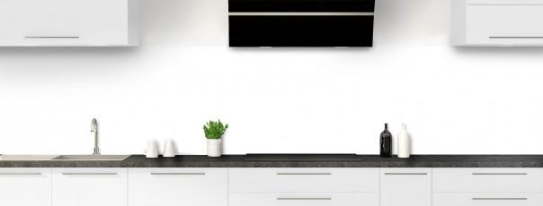 Crédence de cuisine Blanc panoramique