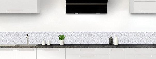 Crédence de cuisine Papier peint rétro couleur gris clair dosseret