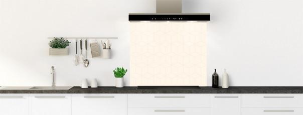 Crédence de cuisine Cubes en relief couleur magnolia fond de hotte