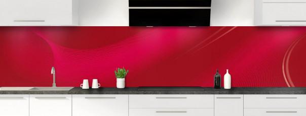 Crédence de cuisine Volute couleur rouge carmin panoramique