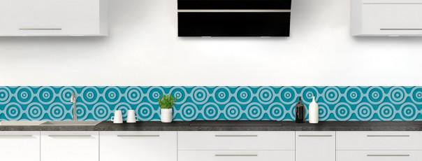 Crédence de cuisine Papier peint rétro couleur bleu canard dosseret