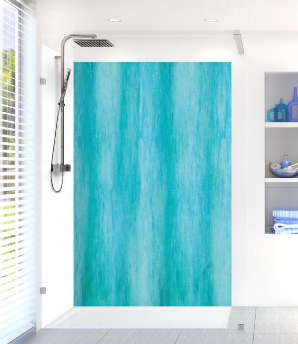 Panneau de douche Nuances de bleu