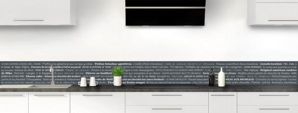 Crédence de cuisine Recettes de cuisine couleur gris carbone dosseret