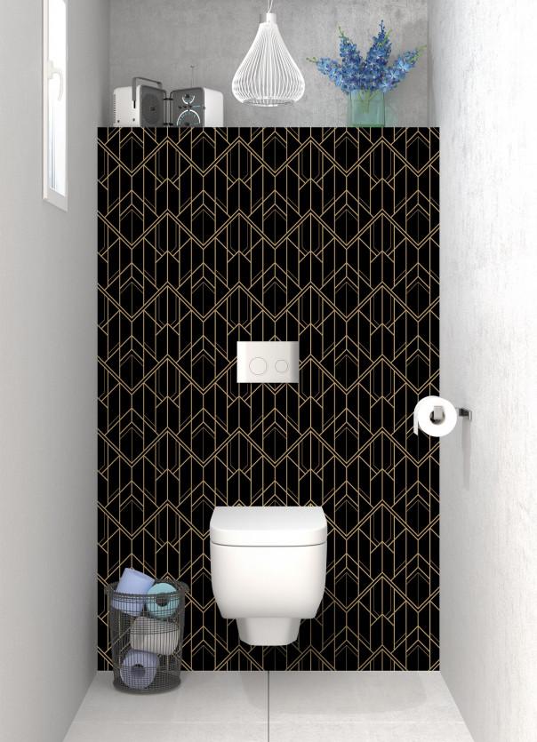 Panneau WC Gatsby  Fond noir
