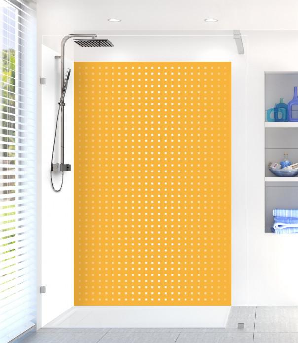 Panneau de douche Petits carrés couleur abricot