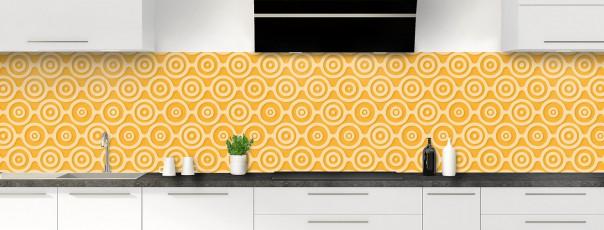 Crédence de cuisine Papier peint rétro couleur abricot panoramique