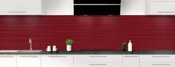 Crédence de cuisine Lignes horizontales couleur rouge pourpre panoramique