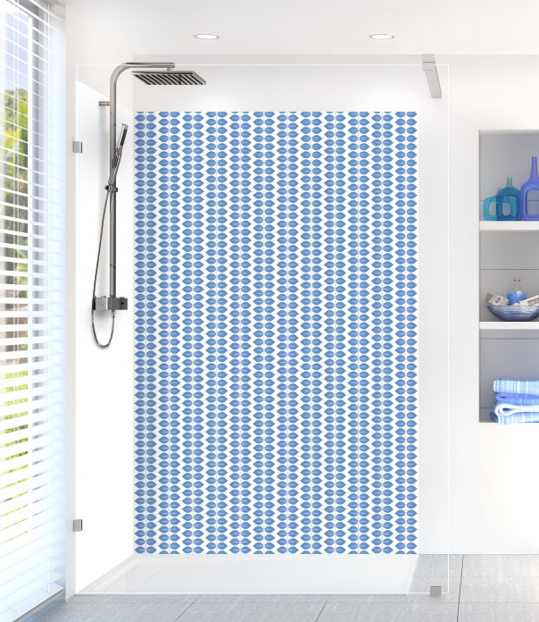 Panneau de douche Petites Feuilles  couleur bleu lavande
