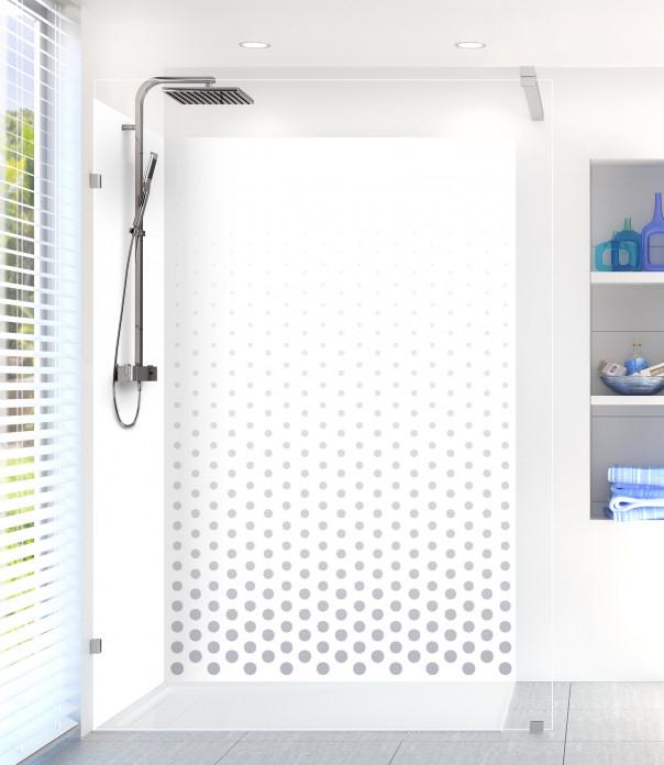 Panneau de douche Pluie de points couleur gris métal