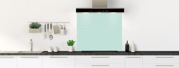 Crédence de cuisine Lignes horizontales couleur vert pastel fond de hotte