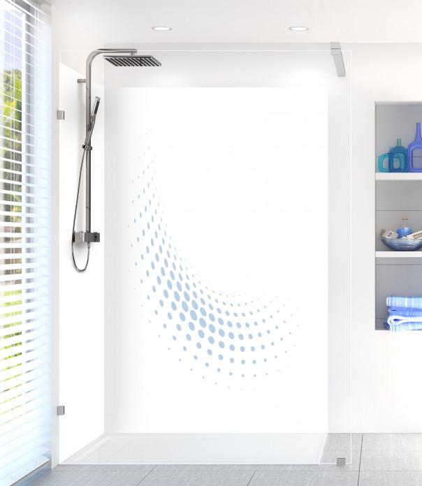 Panneau de douche Nuage de points couleur bleu azur