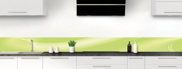 Crédence de cuisine Volute couleur vert olive dosseret