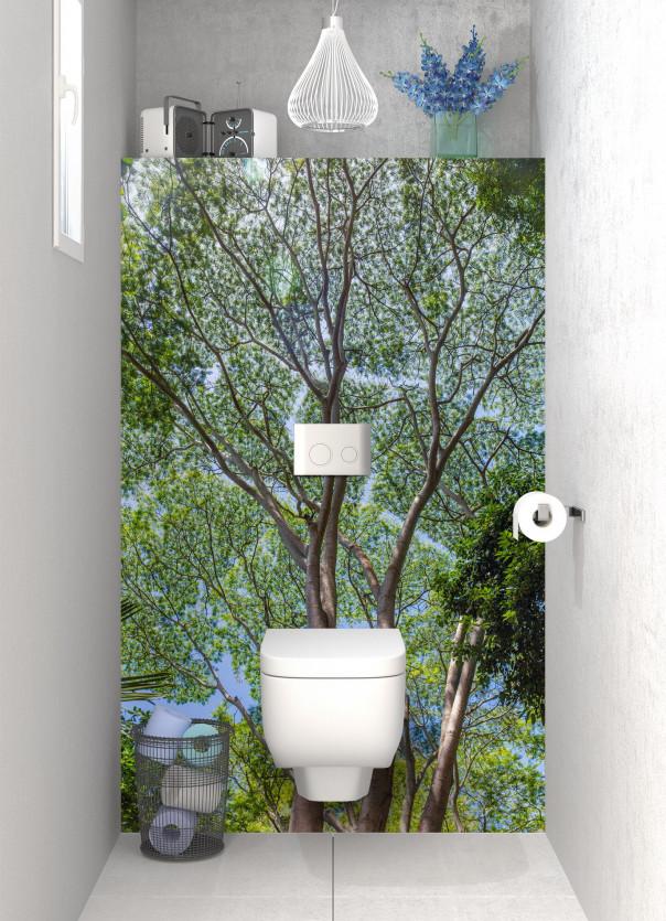 Panneau WC Arbres timides motif inversé