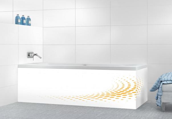 Panneau tablier de bain Nuage de points couleur abricot