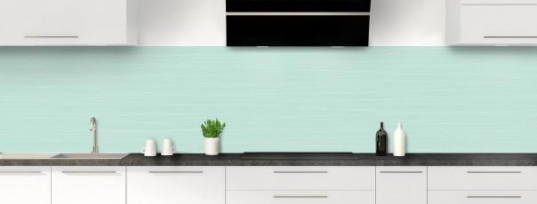 Crédence de cuisine Lignes horizontales couleur vert pastel panoramique