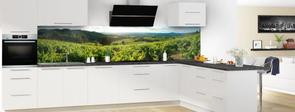 Crédence de cuisine Vignes panoramique en perspective