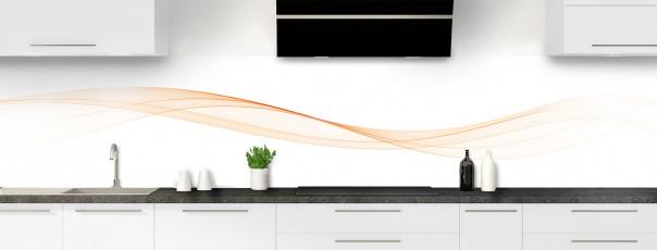 Crédence de cuisine Vague graphique couleur sable panoramique