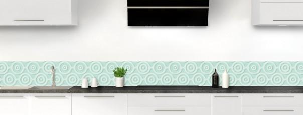 Crédence de cuisine Papier peint rétro couleur vert pastel dosseret