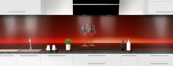 Crédence de cuisine Verres de vin panoramique motif inversé