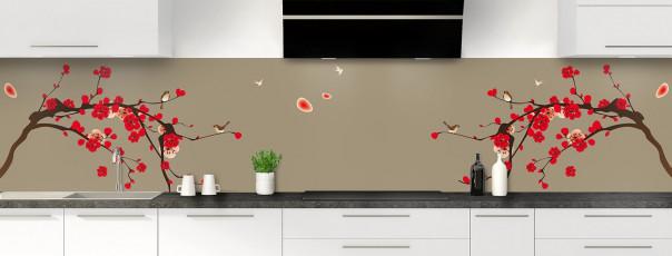 Crédence de cuisine Cerisier japonnais couleur marron glacé panoramique