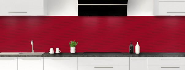 Crédence de cuisine Ondes couleur rouge carmin panoramique