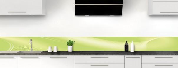 Crédence de cuisine Volute couleur vert olive dosseret motif inversé
