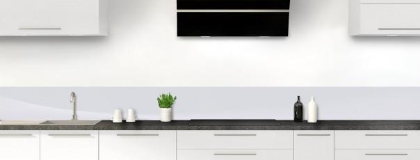 Crédence de cuisine Ombre et lumière couleur gris clair dosseret