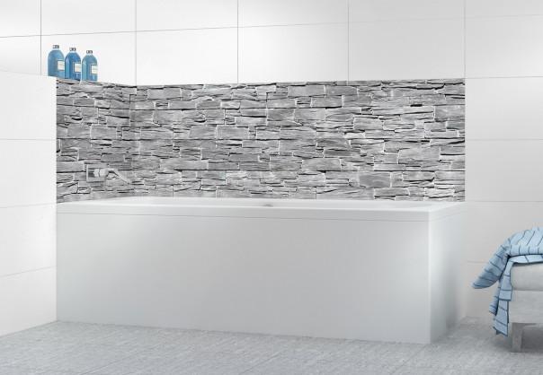 Panneau de bain Brique d'ardoise grise