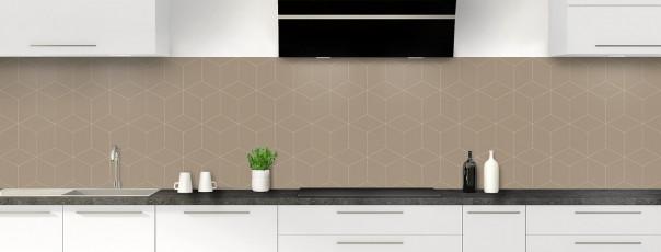 Crédence de cuisine Cubes en relief couleur marron glacé panoramique