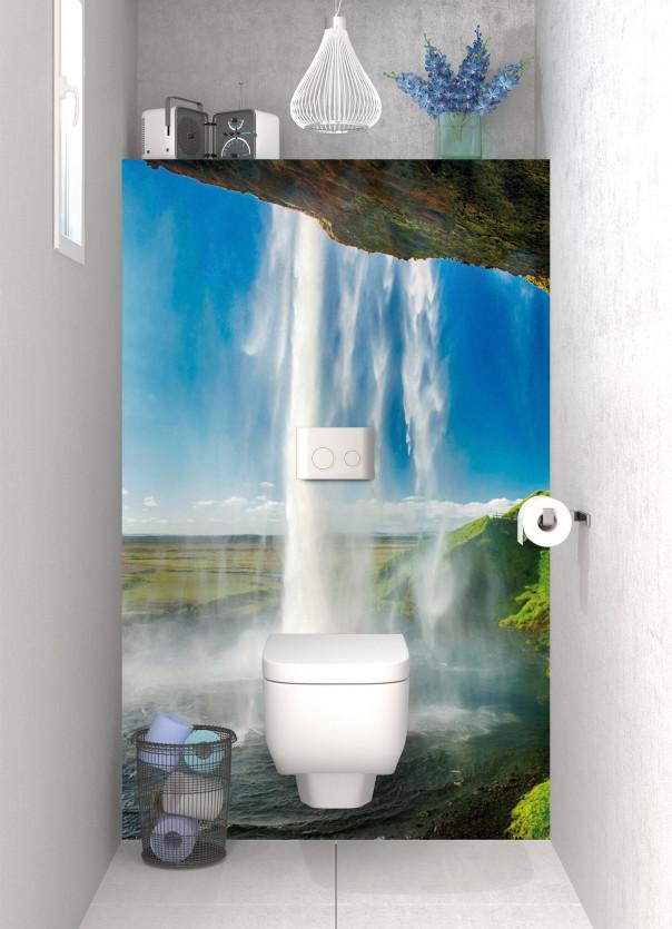 Panneau WC Cascade Islandaise motif inversé