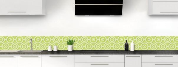 Crédence de cuisine Papier peint rétro couleur vert olive dosseret