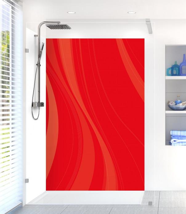 Panneau de douche Voilage couleur rouge vif