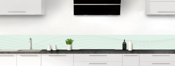 Crédence de cuisine Courbes couleur vert eau dosseret