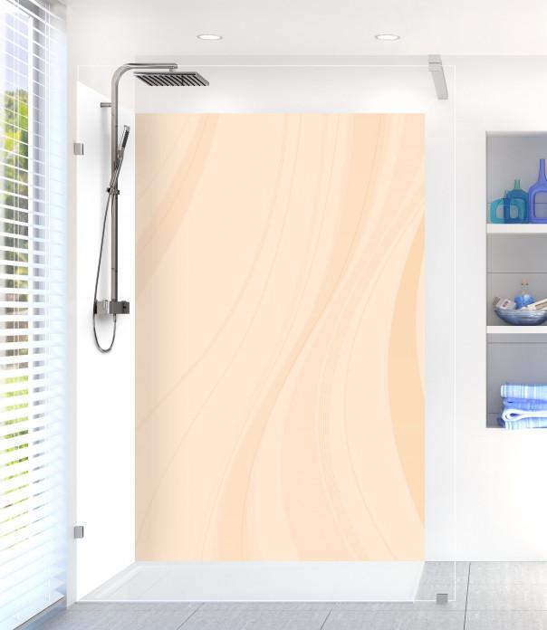 Panneau de douche Voilage couleur sable motif inversé
