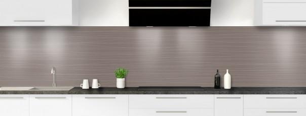 Crédence de cuisine Lignes horizontales couleur taupe panoramique
