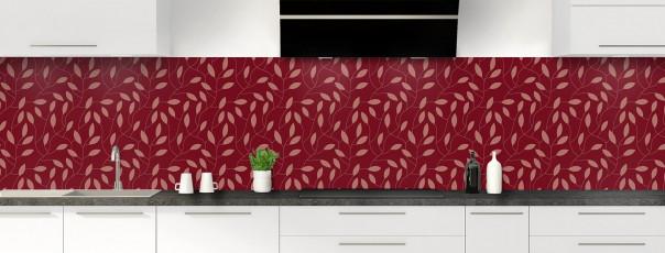 Crédence de cuisine Rideau de feuilles couleur rouge pourpre panoramique