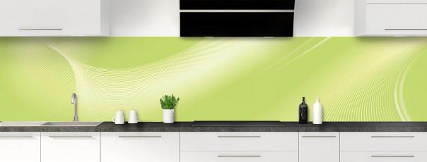Crédence de cuisine Volute couleur vert olive panoramique
