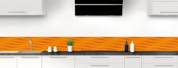 Crédence de cuisine Ondes couleur abricot dosseret