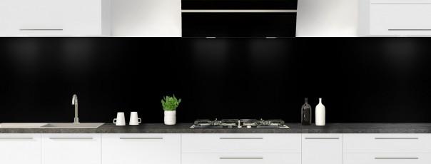 Crédence de cuisine Noir mat ardoise panoramique