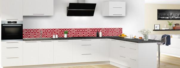 Crédence de cuisine Papier peint rétro couleur rouge carmin dosseret en perspective