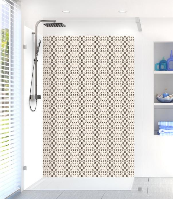 Panneau de douche Hexagones  couleur sable