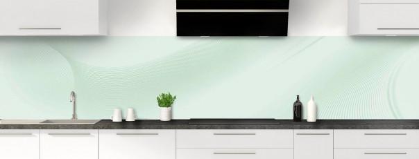 Crédence de cuisine Volute couleur vert eau panoramique