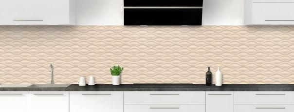 Crédence de cuisine Motif vagues couleur sable panoramique