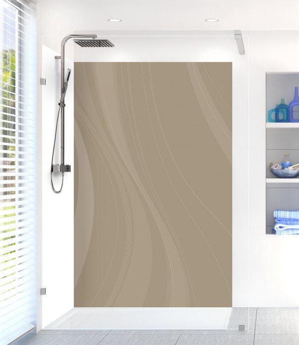 Panneau de douche Voilage couleur marron glacé