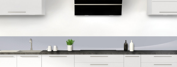 Crédence de cuisine Ombre et lumière couleur gris métal dosseret motif inversé