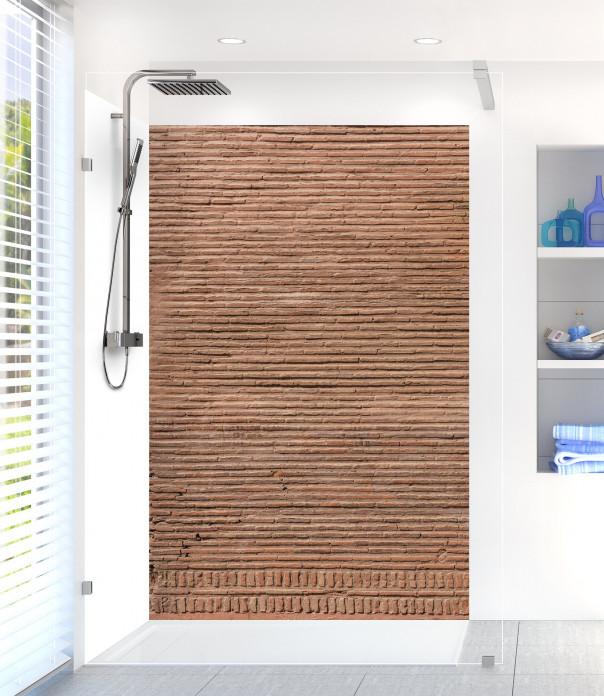 Panneau de douche Mur en briques fines