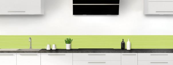 Crédence de cuisine Lignes horizontales couleur vert olive dosseret