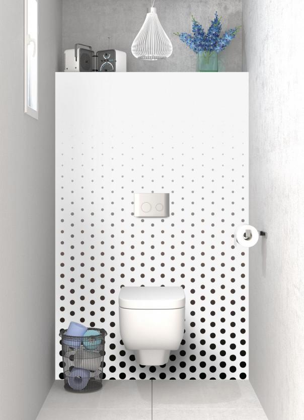 Panneau WC Pluie de points couleur noir