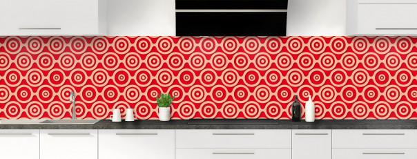 Crédence de cuisine Papier peint rétro couleur rouge vif panoramique