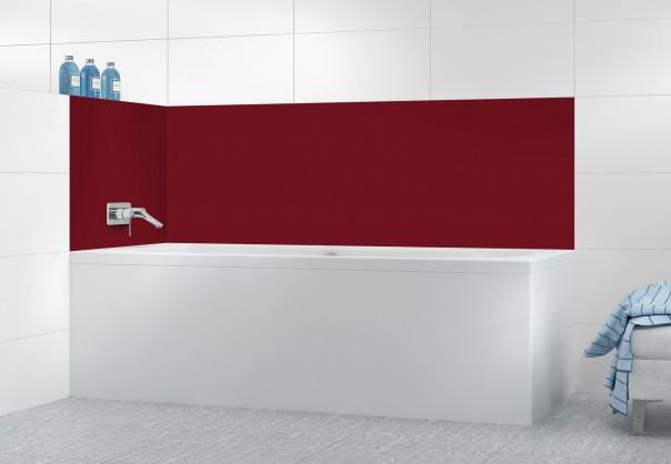 Panneau de bain Rouge Pourpre